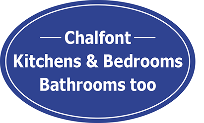 Graphic image showing Chalfont Kitchens and Bedrooms, bathrooms too logo updated by Creatif Design