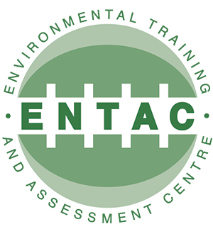 Graphic image showing the Environmental Training and Assessment Centre logo designed by Creatif Design