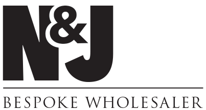 Graphic image showing N and J Bespoke Wholesaler logo created by Creatif Design